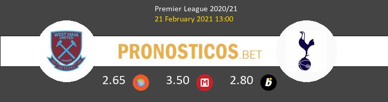 West Ham vs Tottenham Hotspur Pronostico (21 Feb 2021) 1