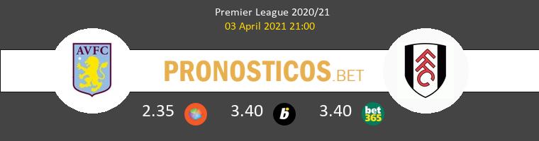 Aston Villa vs Fulham Pronostico (3 Abr 2021) 1