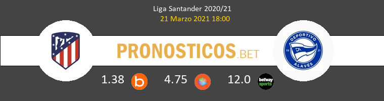Atlético de Madrid vs Alavés Pronostico (21 Mar 2021) 1
