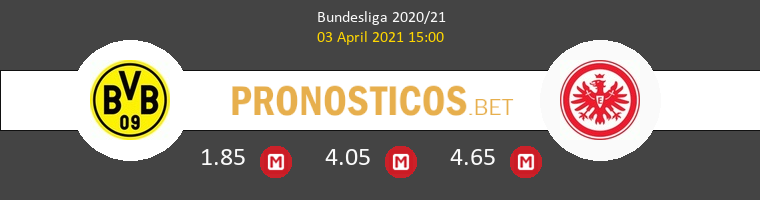 Borussia Dortmund vs Eintracht Frankfurt Pronostico (3 Abr 2021) 1