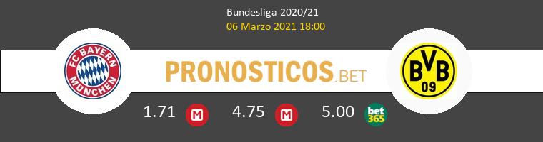 Bayern Munich vs Borussia Dortmund Pronostico (6 Mar 2021) 1
