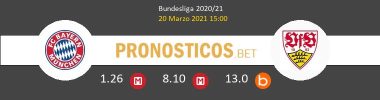 Bayern Munich vs Stuttgart Pronostico (20 Mar 2021) 1