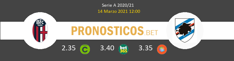 Bologna vs Sampdoria Pronostico (14 Mar 2021) 1