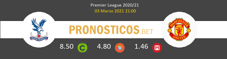 Crystal Palace vs Manchester United Pronostico (3 Mar 2021) 1