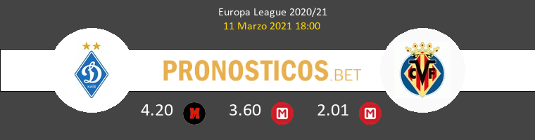Dinamo Kiev vs Villarreal Pronostico (11 Mar 2021) 1