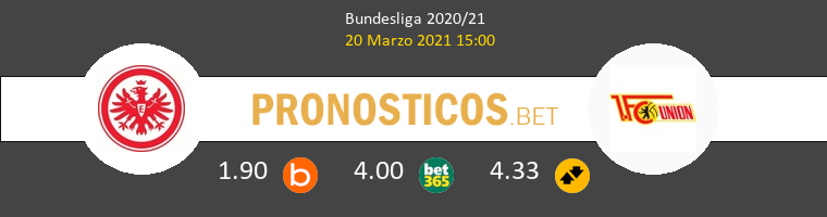 Eintracht Frankfurt vs Union Berlin Pronostico (20 Mar 2021) 1