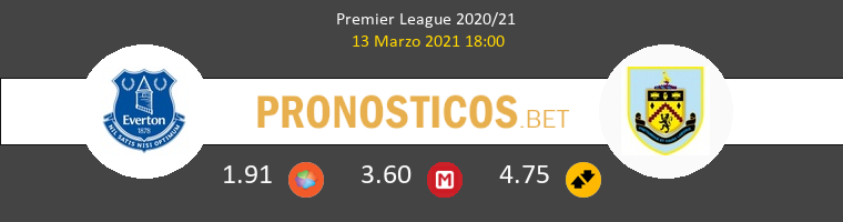 Everton vs Burnley Pronostico (13 Mar 2021) 1