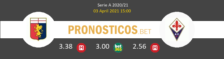 Genova vs Fiorentina Pronostico (3 Abr 2021) 1