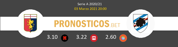 Genoa vs Sampdoria Pronostico (3 Mar 2021) 1