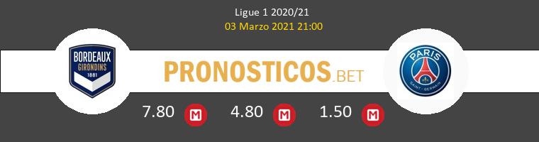 Girondins Bordeaux vs PSG Pronostico (3 Mar 2021) 1