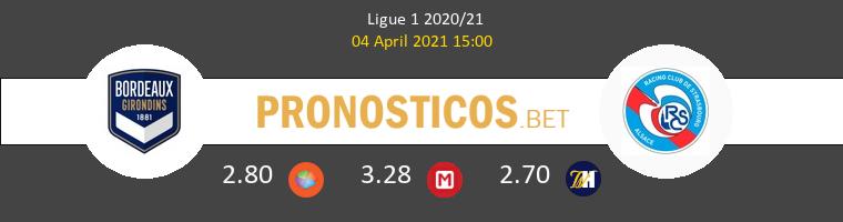 Girondins Bordeaux vs Strasbourg Pronostico (4 Abr 2021) 1