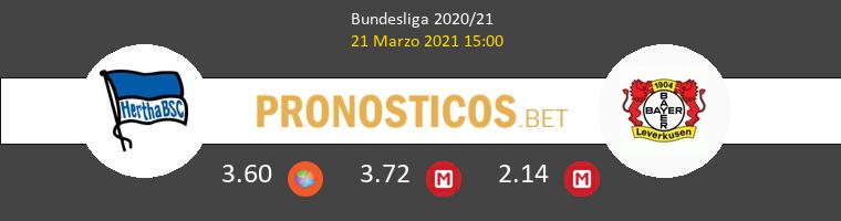 Hertha BSC vs Bayer Leverkusen Pronostico (21 Mar 2021) 1