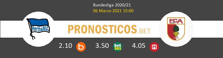 Hertha Berlin vs FC Augsburg Pronostico (6 Mar 2021) 1