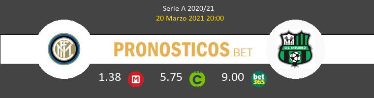 Inter vs Sassuolo Pronostico (20 Mar 2021) 1