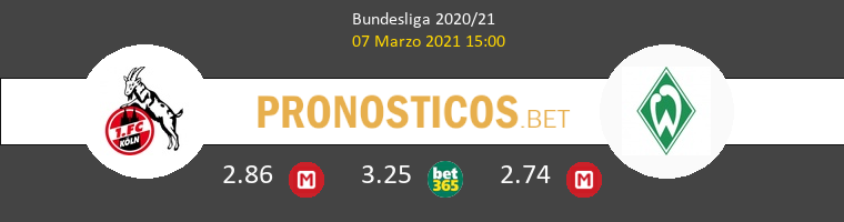 Koln vs Werder Bremen Pronostico (7 Mar 2021) 1