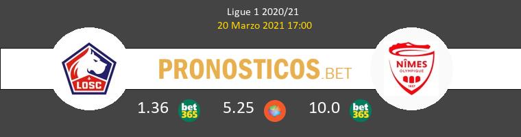 Lille vs Nimes Pronostico (20 Mar 2021) 1