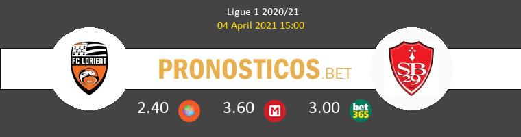 Lorient vs Stade Brestois Pronostico (4 Abr 2021) 1