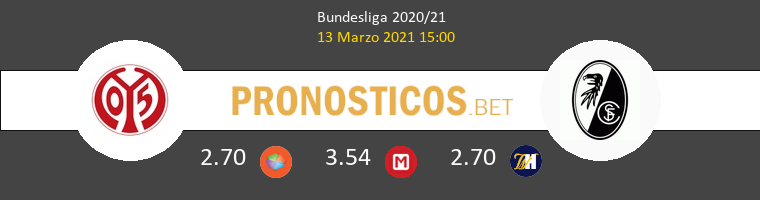 Mainz 05 vs SC Freiburg Pronostico (13 Mar 2021) 1