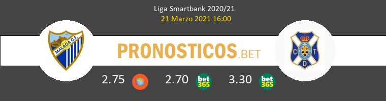 Málaga vs Tenerife Pronostico (21 Mar 2021) 1
