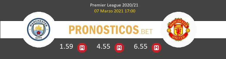 Manchester City vs Manchester United Pronostico (7 Mar 2021) 1