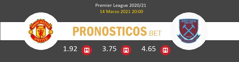 Manchester United vs West Ham Pronostico (14 Mar 2021) 1