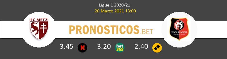 Metz vs Stade Rennais Pronostico (20 Mar 2021) 1