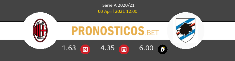 Milan vs Sampdoria Pronostico (3 Abr 2021) 1