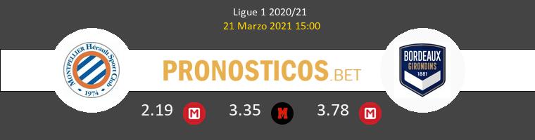 Montpellier vs Girondins Bordeaux Pronostico (21 Mar 2021) 1