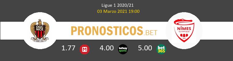 Nice vs Nimes Pronostico (3 Mar 2021) 1