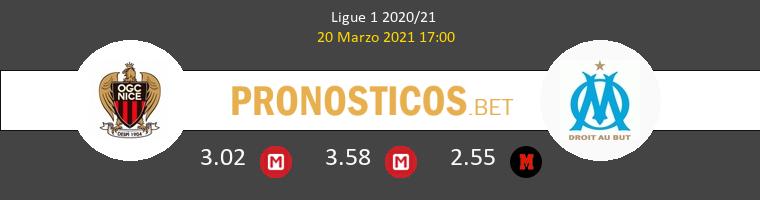 Nice vs Olympique Marsella Pronostico (20 Mar 2021) 1
