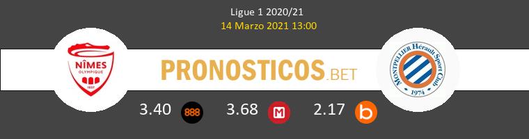 Nimes vs Montpellier Pronostico (14 Mar 2021) 1