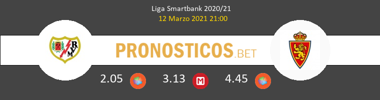 Rayo Vallecano vs Zaragoza Pronostico (12 Mar 2021) 1