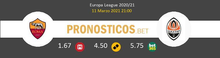 Roma vs Shakhtar Donetsk Pronostico (11 Mar 2021) 1