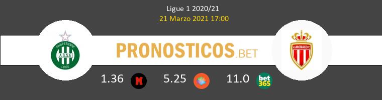 SaintvÉtienne vs Monaco Pronostico (21 Mar 2021) 1