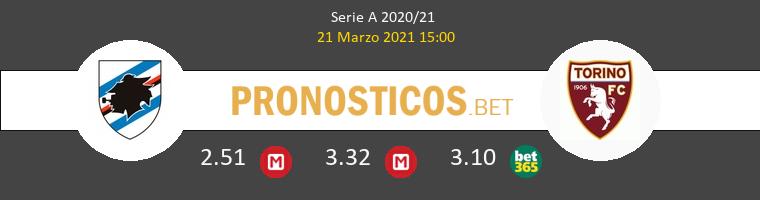 Sampdoria vs Torino Pronostico (21 Mar 2021) 1