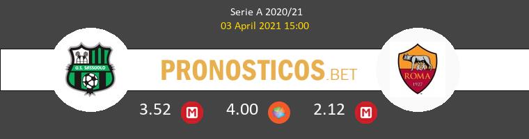 Sassuolo vs Roma Pronostico (3 Abr 2021) 1