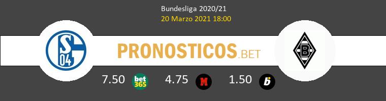 Schalke 04 vs B. Mönchengladbach Pronostico (20 Mar 2021) 1