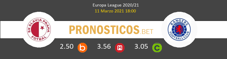 Slavia Praha vs Rangers FC Pronostico (11 Mar 2021) 1