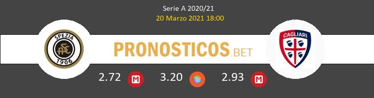 Spezia vs Cagliari Pronostico (20 Mar 2021) 1