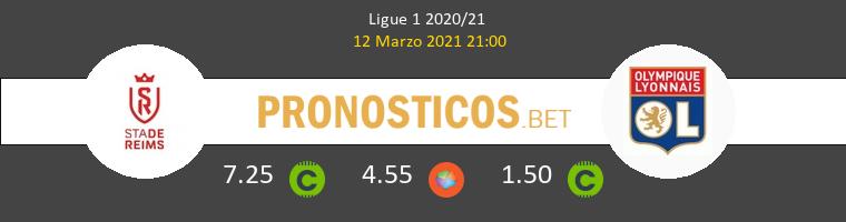 Stade de Reims vs Olympique Lyonnais Pronostico (12 Mar 2021) 1