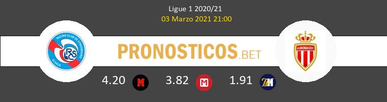 Strasbourg vs Monaco Pronostico (3 Mar 2021) 1