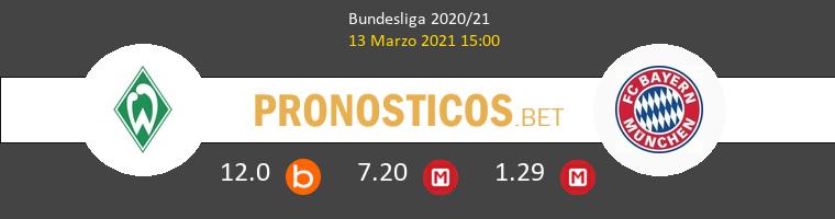 Werder Bremen vs Bayern Pronostico (13 Mar 2021) 1