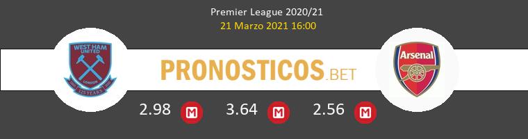 West Ham vs Arsenal Pronostico (21 Mar 2021) 1