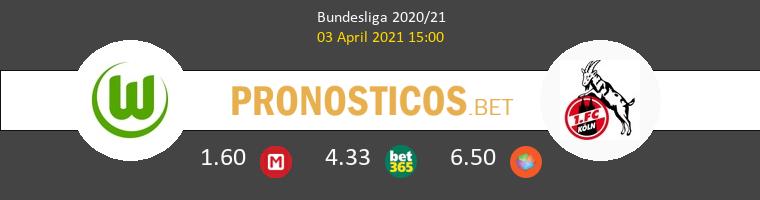 Wolfsburgo vs Koln Pronostico (3 Abr 2021) 1