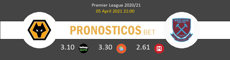 Wolverhampton vs West Ham Pronostico (5 Abr 2021) 1