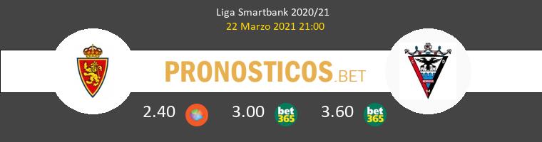 Zaragoza vs Mirandés Pronostico (22 Mar 2021) 1