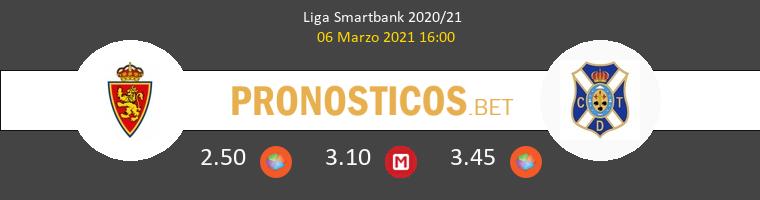 Zaragoza vs Tenerife Pronostico (6 Mar 2021) 1