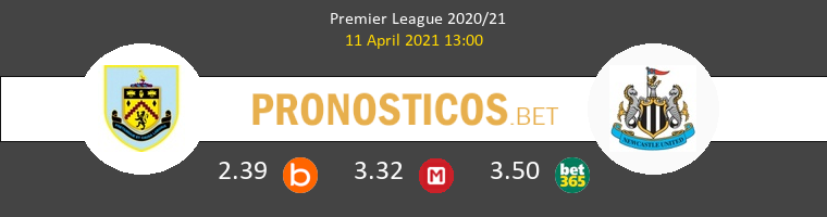 Burnley vs Newcastle Pronostico (11 Abr 2021) 1