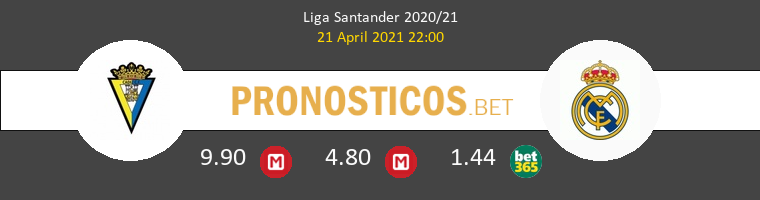 Cádiz vs Real Madrid Pronostico (21 Abr 2021) 1
