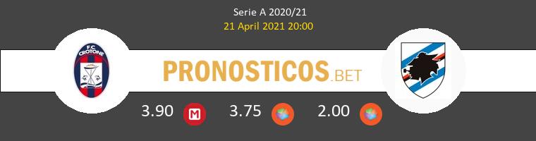 Crotone vs Sampdoria Pronostico (21 Abr 2021) 1
